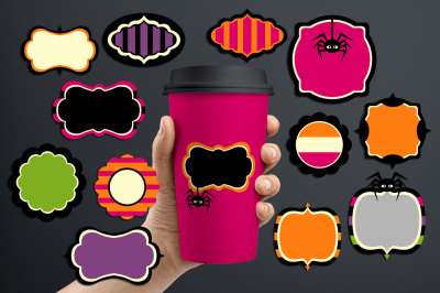 Cool Halloween Frames Tags Graphics and Illustrations