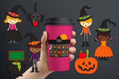 School Halloween Party Graphics and Illustrations