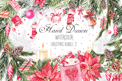 Watercolor Christmas BUNDLE 2