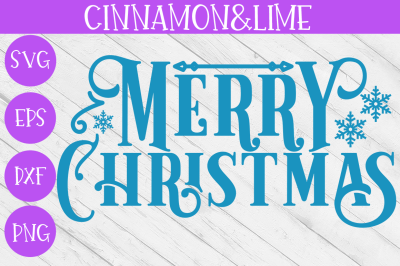 Merry Christmas Vintage Sign SVG