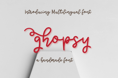 Ghopsy - Multilingual script font