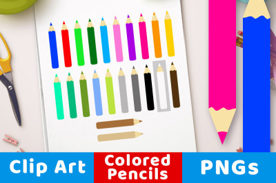 Colored Pencil Clipart, Artist Clipart, Back to School Clipart