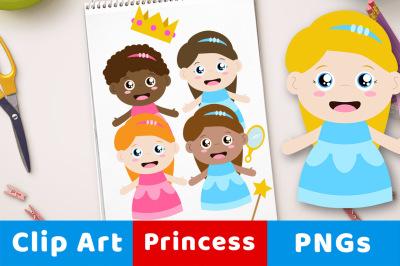 Princess Clipart, Fairy Tale Clipart, Fantasy Clipart, Queen