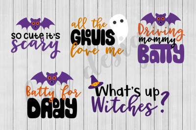 Halloween SVG, SVG Bundle, Bat SVG, Ghost SVG, Witch SVG