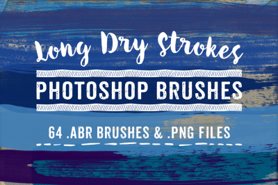 Long Dry Brush Strokes Photoshop Brushes