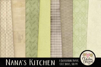 Nana's Kitchen Digital Papers