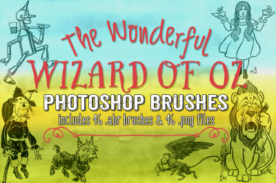 Wizard of Oz Photoshop Brushes & Clipart