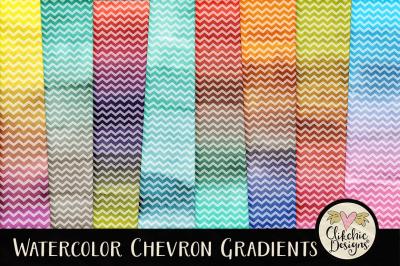 Watercolor Chevron Gradient Textures