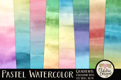 Pastel Watercolor Gradient Texture Papers