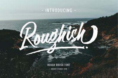 Roughish Brush Font