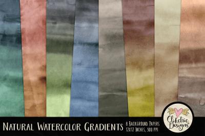Natural Watercolor Gradient Textures