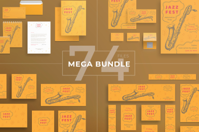 Design templates bundle | flyer, banner, branding | Jazz Festival