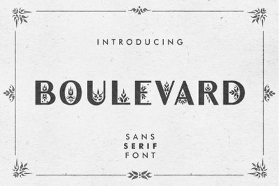 Boulevard - Sans Serif Font