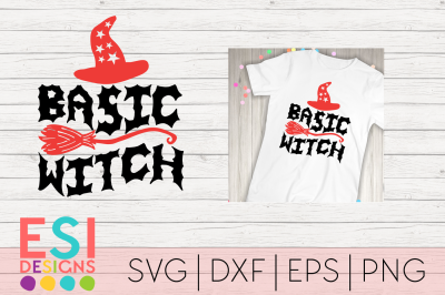 Basic Witch | Halloween | SVG, DXF, EPS & PNG