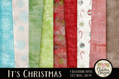 It's Christmas Background Paper Textures
