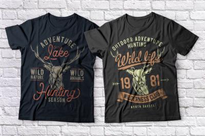 Hunting t-shirts set