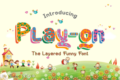 Play-on || UPDATE with Layered funny Font