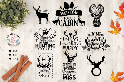 Hunting Season Mini Bundle Cut Files in SVG, DXF, EPS.
