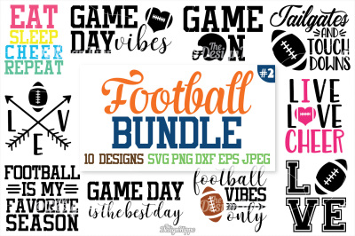 Football SVG Bundle, Football Bundle, SVG, PNG, Cutting files, Cricut