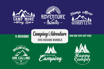Camping, Adventure Iron on Designs - Svg, Dxf, Png, Eps