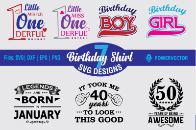 Birthday Shirt Designs Svg Bundle