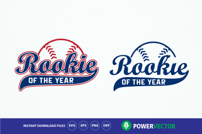 Rookie of the Year, Rookie baseball SVG, dxf, eps, png cut files