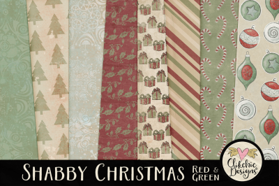 Shabby Christmas Texture Paper Pack