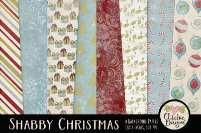 Shabby Christmas Texture Backgrounds