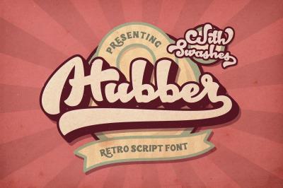 Hubber Retro Script Font