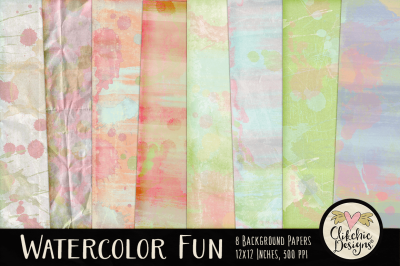 Watercolor Paint Background Textures