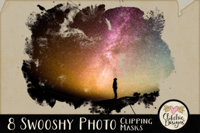 Swooshy Painted Photo Clipping Masks & Tutorial