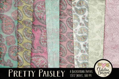 Pretty Paisley Background Textures