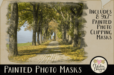 Painted Photo Clipping Masks & Tutorial