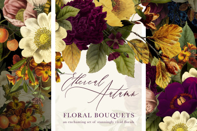 Ethereal Autumn Floral Bouquets