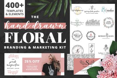 Hand Drawn Floral Branding Kit