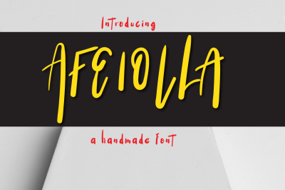 Afeiolla Typeface