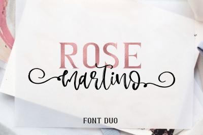 Rose Martino Font Duo
