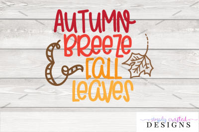 Autumn Breeze & Fall Leaves SVG
