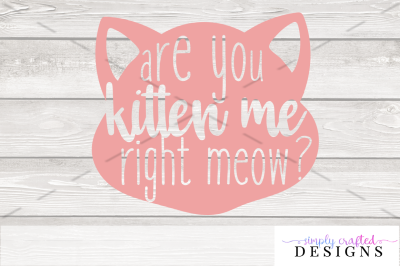 Are You Kitten Me Right Meow SVG