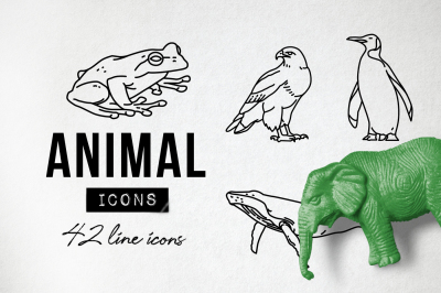 42 Detailed Animal Icons