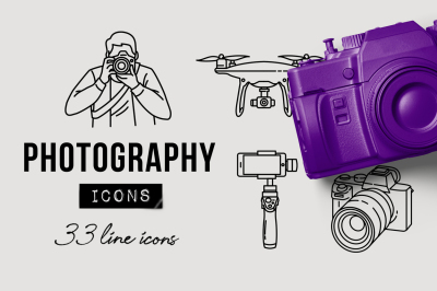 33 Detailed Photography Icons