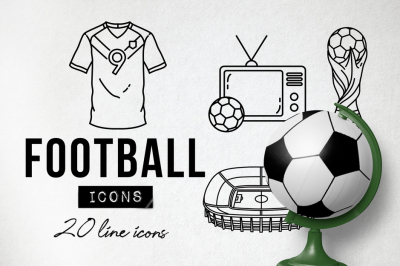 20 Detailed Football Soccer Icons