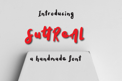 SuttReAl Typeface by watercolor floral designs