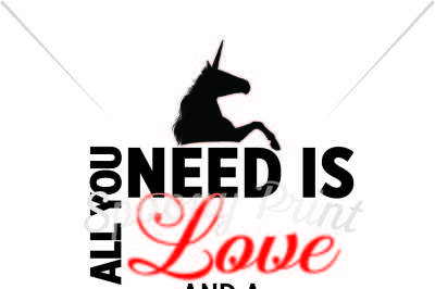 All you need is love and a unicorn