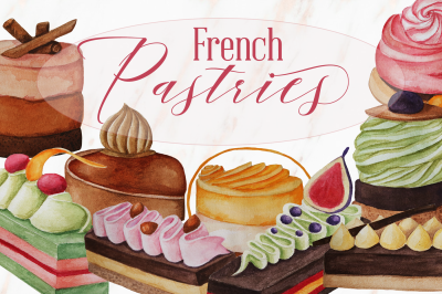 French Pastries Illustration