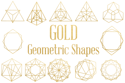 Gold Geometric Shapes