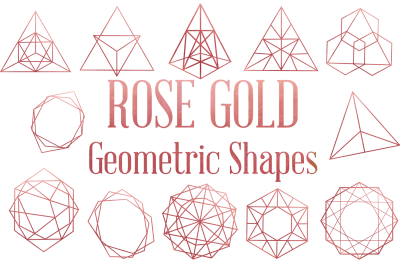 Rose Gold Geometric Shapes