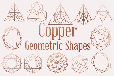 Copper Vintage Style Geometric Shapes