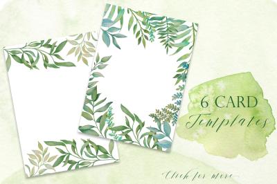 Greenery Cards