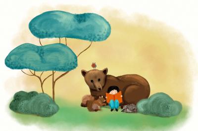 Loving children's books illustration